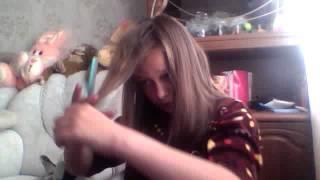 Пыталась сделать эмо причёску