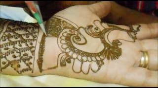 Beautiful Indian Bridal Mehendi Henna Draw-Pakistani Mhendi Designs on Palm