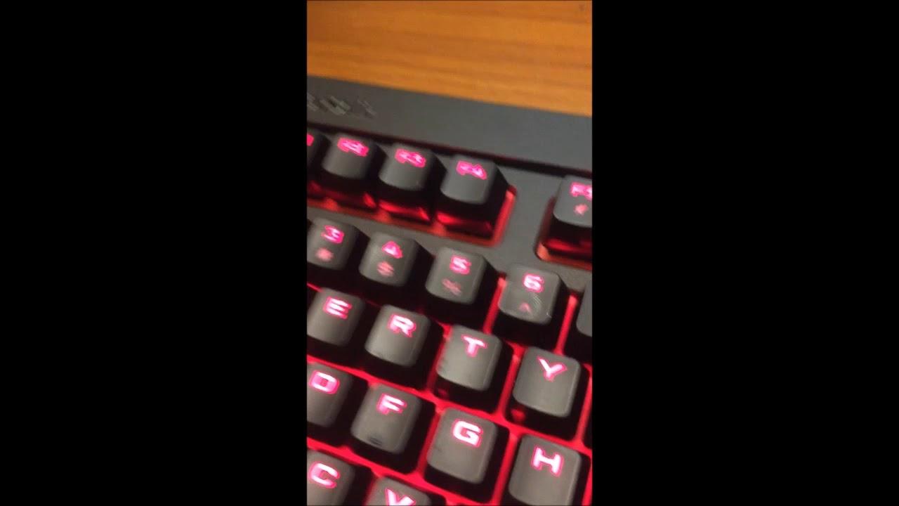 CORSAIR STRAFE, Caps Lock/NUM Lock Lights - Peripherals - Linus Tech