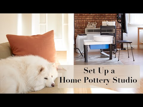 HOW TO DO POTTERY AT HOME // Set Up A Home Pottery Studio Safely And Cleanly