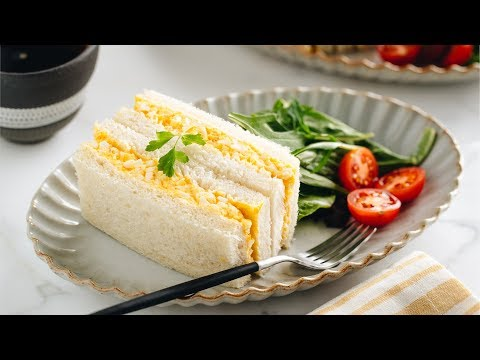 How to Make Japanese Egg Sandwich (Tamago Sando) (Recipe) たまごサンドの作り方 (レシピ)
