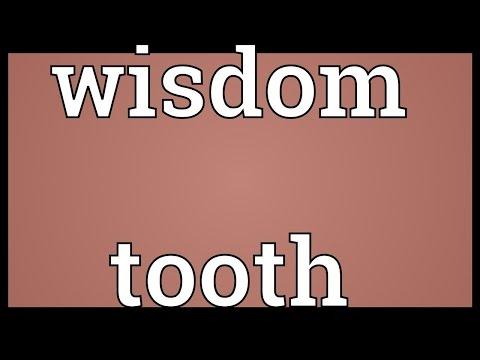 Wisdom tooth Meaning
