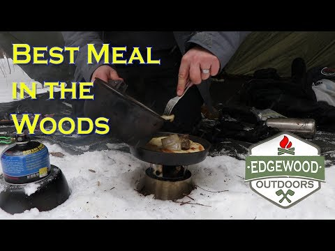 Cooking Bread and Meat in The Forest