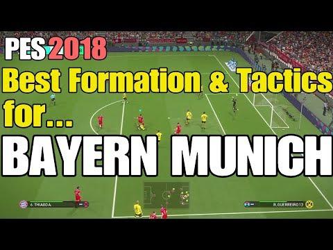 PES 2018 - FC BAYERN MUNICH   Best Formation & Tactics   Tested vs Dortmund (Superstar)