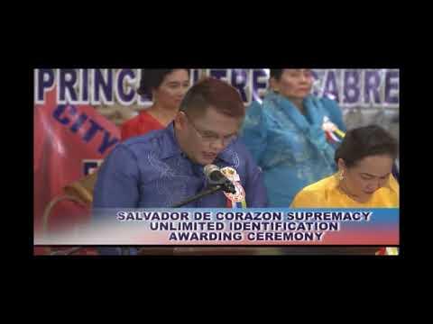 Salvador De Corazon Supremacy Unlimited Identification Awarding Ceremony