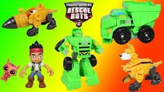 Playskool Heroes Transformers Rescue Bots Boulder the Construction Bot w/ his Rescue Mini-Con Servo