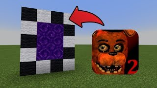 How To Make a Portal to the Five Nights At Freddy's 2 Dimension in MCPE (Minecraft PE)