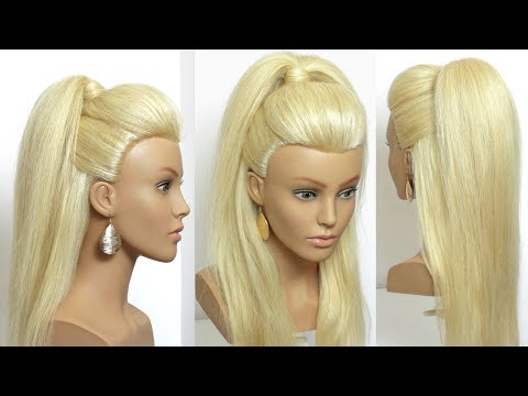 Perfect Hairstyle For Long Hair Tutorial. High Ponytail With Front Puff