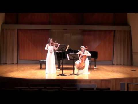 Ravel Sonata for Violin and Cello, 1st Movement - Allegro