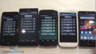 Нагрев Nexus 4, Xperia Z, Galaxy S 3, Meizu MX2, Xperia T