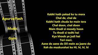 Love You Zindagi Karaoke Lyrics