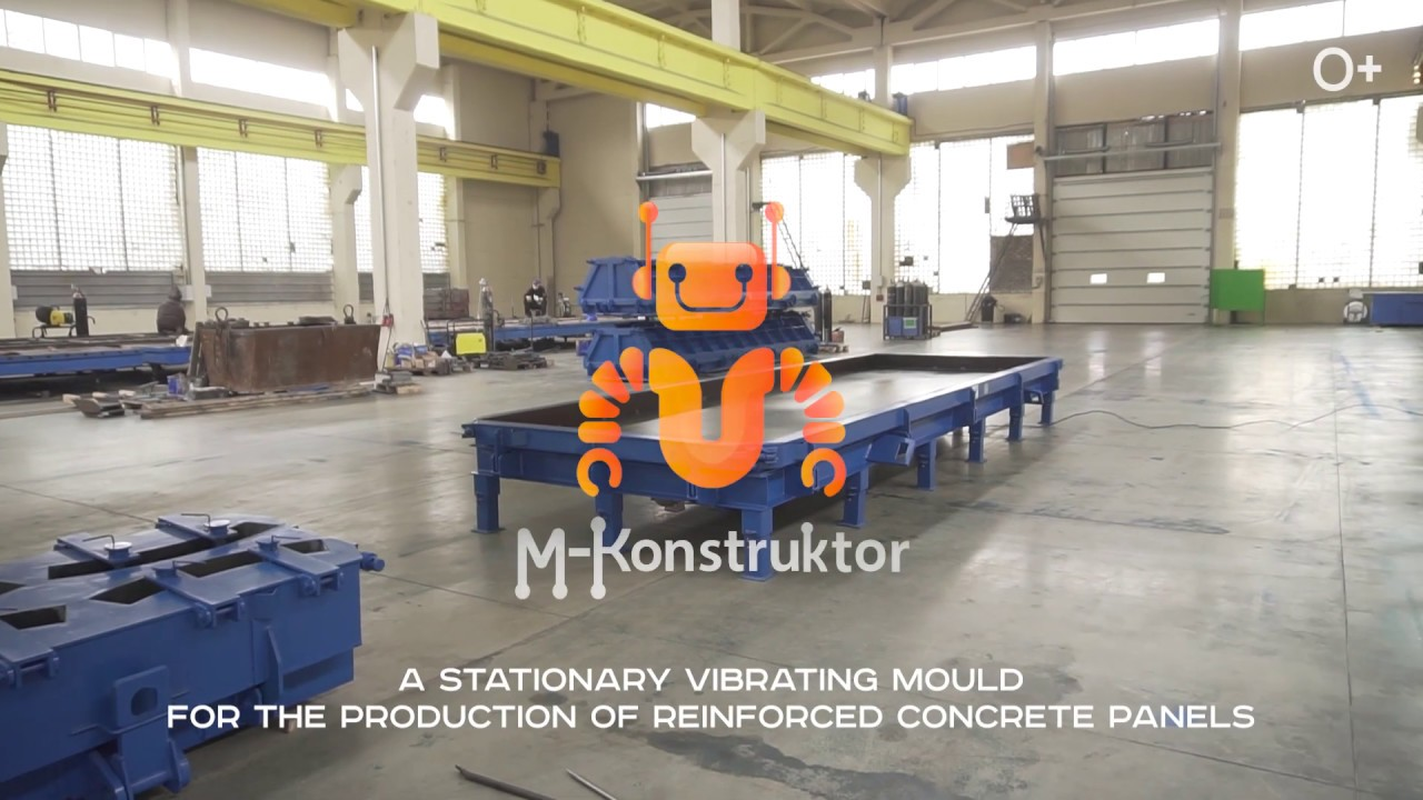 Vibrating moulds for steel-reinforced concrete panels