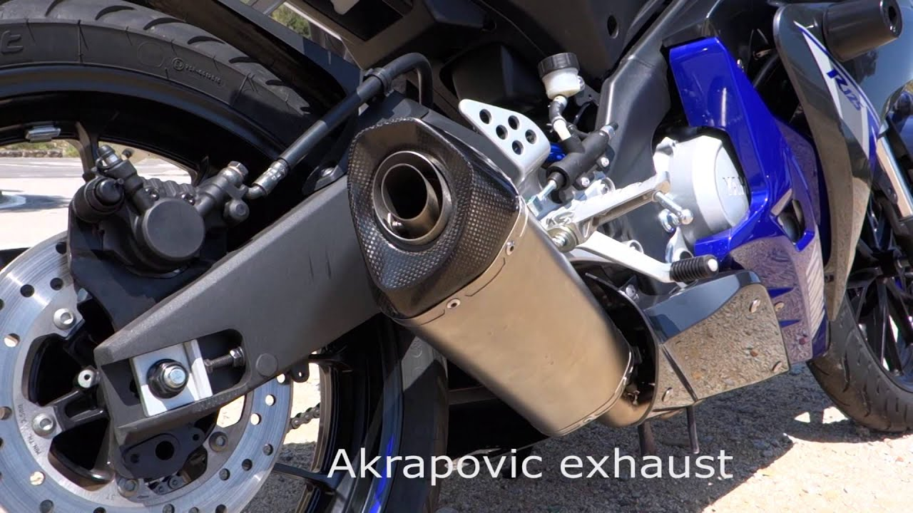 2014 yamaha mt 125 yzf r125 akrapovic exhaust sound. Black Bedroom Furniture Sets. Home Design Ideas