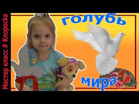 Ролик Голубь мира к 9 мая  Поделка к 9 мая как символ мира   knopochka