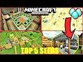 Top 5 INSANE Seeds For Minecraft PE ! END PORTALS, MESA VILLAGE, DIAMONDS & MORE ! | MCPE 1.1
