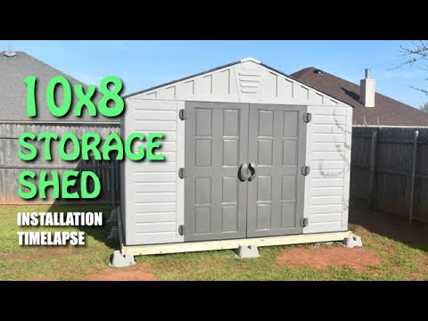 10 Ft X 8 Ft Us Leisure Keter Stronghold Resin Storage Shed Installation Timelapse Youtube