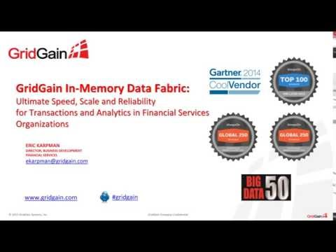 In Memory Computing for High Performance Financial Applications