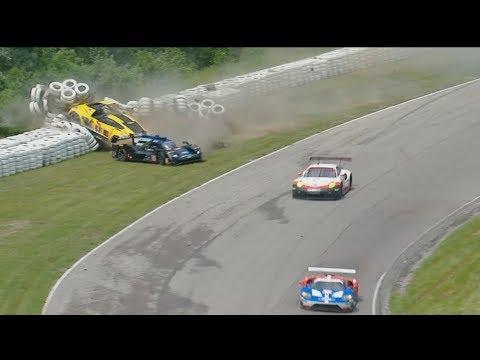 IMSA WeatherTech SportsCar Championship 2017. SportsCar Grand Prix. Big Crash