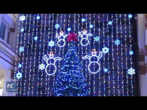 Christmas Light Show At Macy's In Philadelphia Pennsylvania