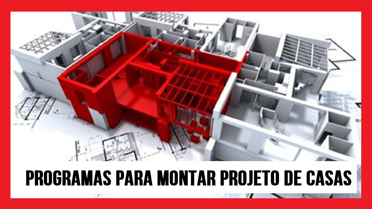 Programas para montar projeto de casas eng carlos youtube for Programa para disenar casas facil