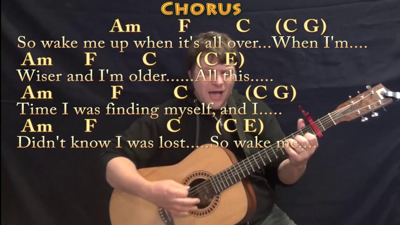 Wake Me Up Avicii Guitar Cover Lesson With Chordslyrics Capo