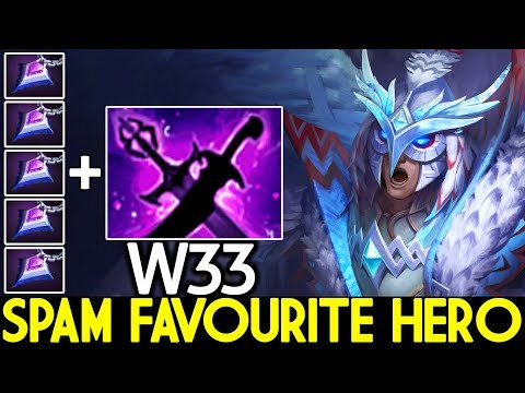 W33 [Skywrath Mage] New Favourite Hero Spam in Solo MMR Pro Gameplay 7.22 Dota 2