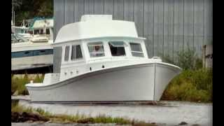 This is a Custom Built 45 Ft. Core Sound Style Round Stern Boat Bui...