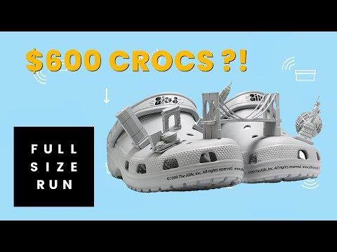 Racks Wears Exclusive $600 Crocs | Full Size Run