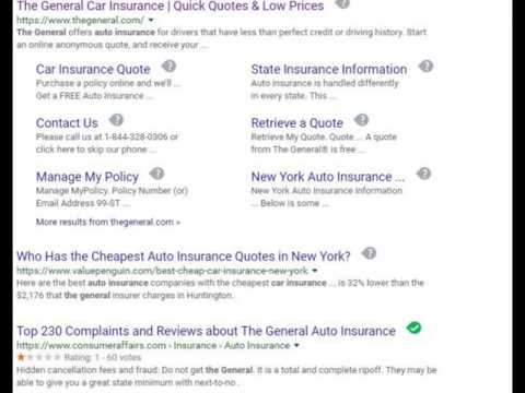 The General Auto Insurance Youtube