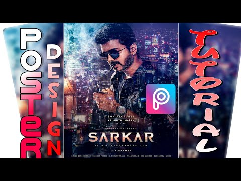 sarkar first look poster editing in picsart tutorial vijay sarkar