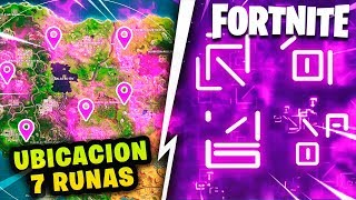 LOCATION OF THE FOLLOWING FORTNITE CUBE RUNS *EXTRA SOUND IN THE HUELLA* THEORIES AND SECRETS