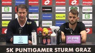 SK Sturm: Mediabriefing vor SV Ried (29. Runde 2016/17)