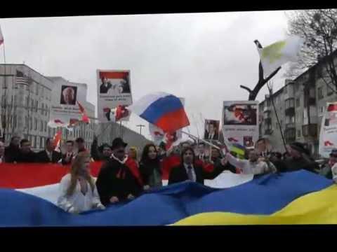 Митинг по Сирии в Киеве 21 марта у посольства США часть 1