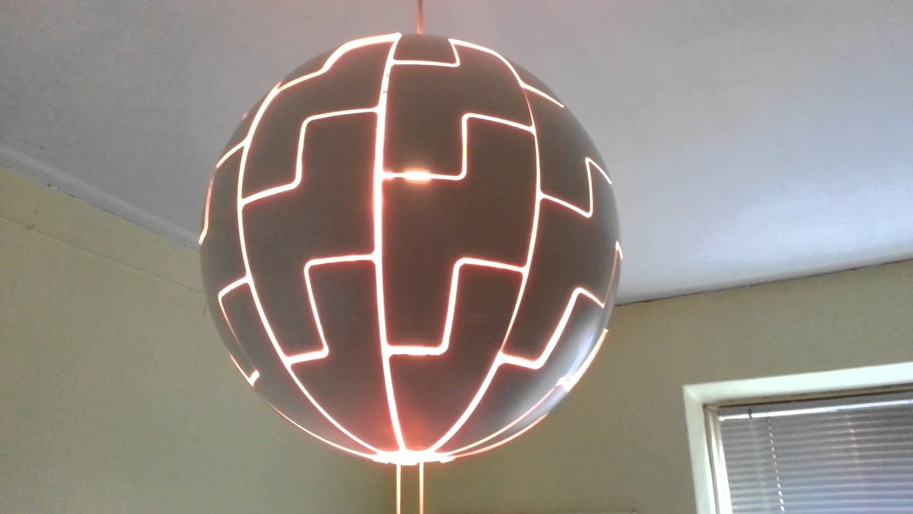 death star lamp ikea vindskydd balkong. Black Bedroom Furniture Sets. Home Design Ideas