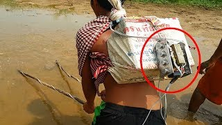How to make fish shock Electric machine by using transistor MJ2955 x 8 (part 2) the end