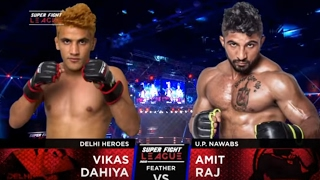 Vikas Dahiya v/s Amit Raj   Delhi Heroes v/s UP Nawabs