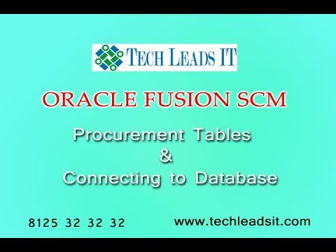 Oracle Fusion Procurement Tables & Database Connection  Online Training