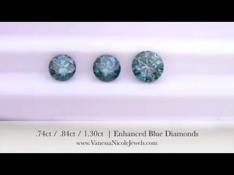 Blue Diamonds - Nathaniel's Blue Diamond Selection - Vanessa Nicole Jewels