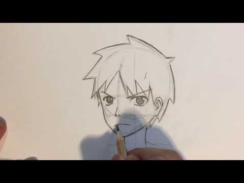 how-to-draw-anime-boy-face-3/4-view-[no-timelapse]