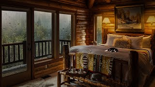 To be Able to Sleep in this Cozy Bedroom When it's Raining in the Misty Forest is Amazing