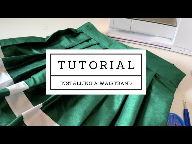 [Tutorial] How To Attach a Skirt Waistband