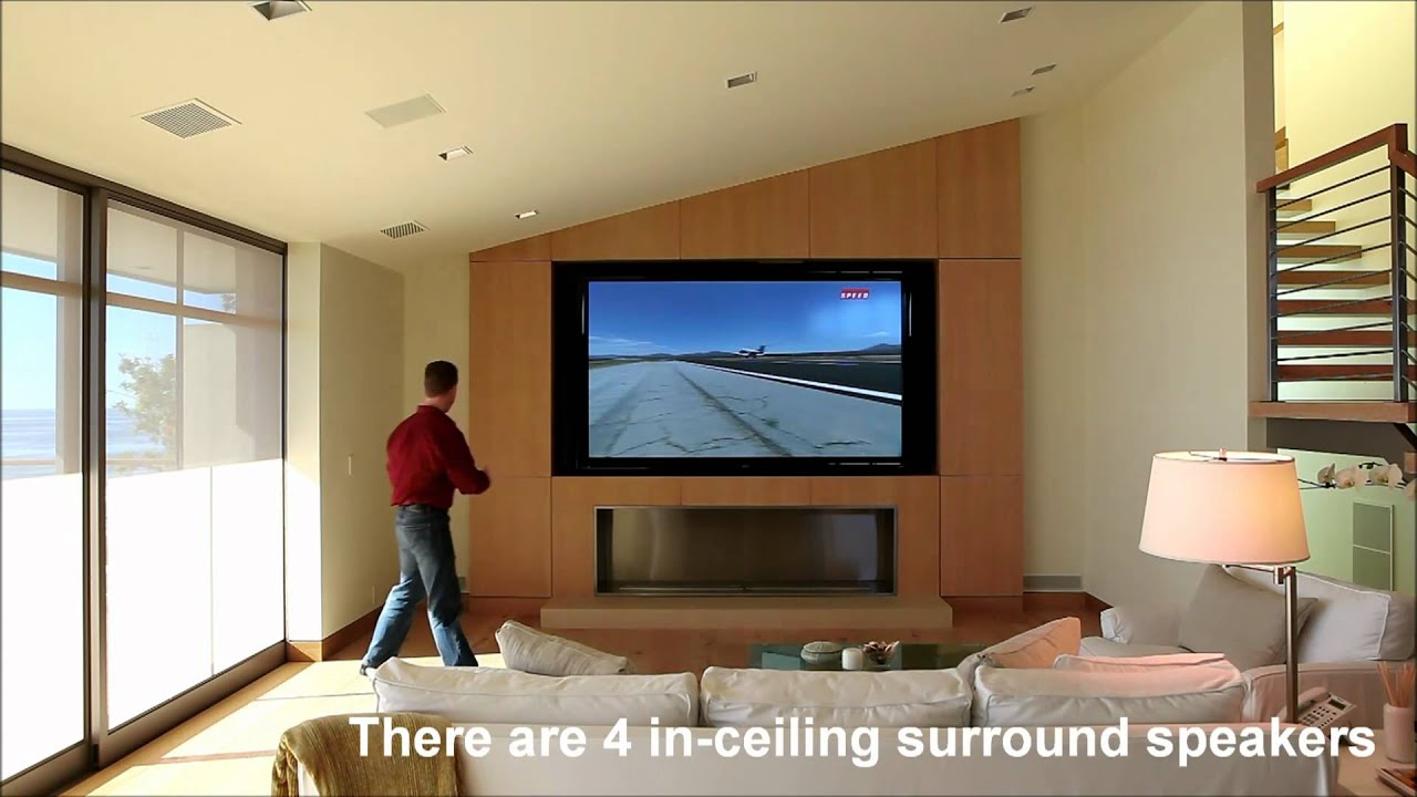 Media Room With AMX Home Automation Control   YouTube