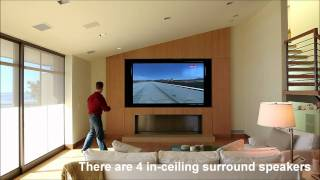 Media Room with AMX home automation control