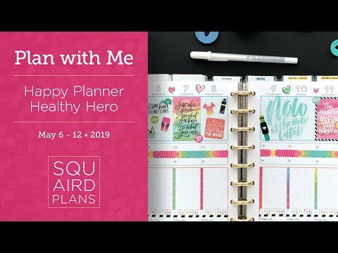 Watercolor Fitness Spread :: Plan with Me :: Happy Planner Healthy Hero