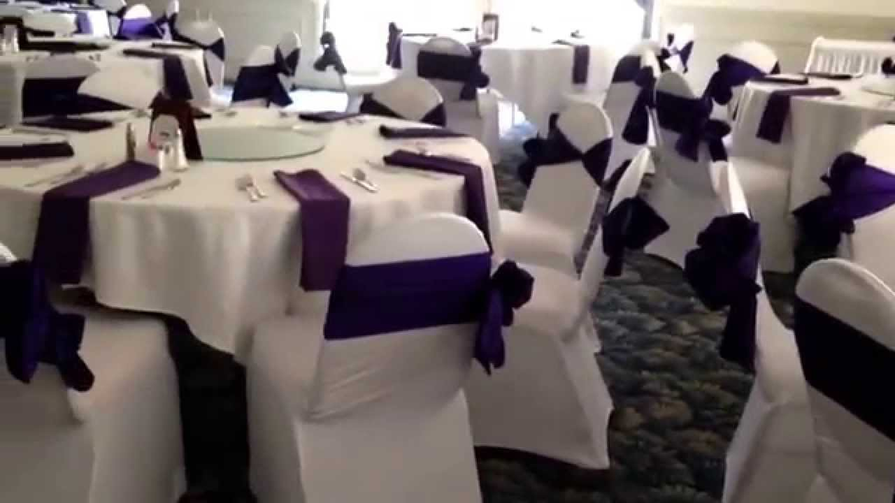 regency purple wedding decorations white and regency purple wedding at country lakes 7055