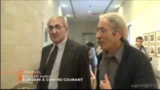 Viste de l'écrivain algérien Sensal en Israël