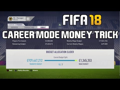 FIFA 18 Career Mode Tutorial: How To Get 1 BILLION Transfer