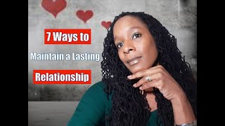 7ways to maintain a lasting relationship