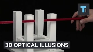 Japanese professor creates amazing 3D optical illusions