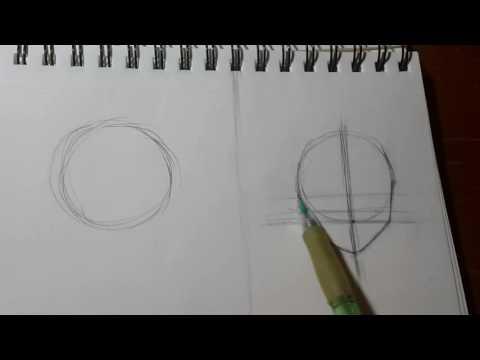 видео: Как нарисовать аниме голову. 1.